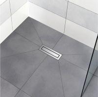 elegant pr miert sicher und leise duschrinne. Black Bedroom Furniture Sets. Home Design Ideas
