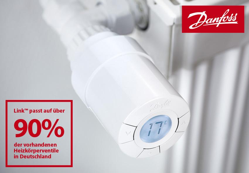 danfoss link passt auf ber 90 der vorhandenen heizk rperventile in deutschland. Black Bedroom Furniture Sets. Home Design Ideas