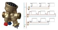 Das druckunabhängige Regel- und Einregulierventil TA-Compact-P wird zur Realisierung eines automatischen hydraulischen Abgleichs in bestehenden Einrohr-Heizungsanlagen nachgerüstet.<br />Bild: IMI Hydronic Engineering