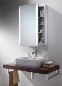 neuer schiebe spiegelschrank im hightech design haustechnikdialog. Black Bedroom Furniture Sets. Home Design Ideas