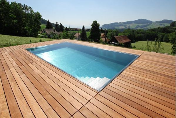 Pool praxisbeispiele gr e formen ausstattung for Pool aus stahl