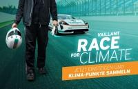 Vaillant ruft auf der ISH digital 2021 zum Vaillant Race for Climate auf. Wer den größten Beitrag zum Klimaschutz leistet, kann sich auf eine Porsche E-Mobility-Experience freuen.<br />Bild: Vaillant<br />