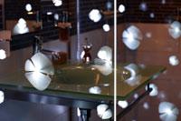 bildsch n im bad glasduschen mit laserdesign und fotomotiven haustechnikdialog. Black Bedroom Furniture Sets. Home Design Ideas