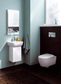 neues raumspar wc mit verk rzter ausladung haustechnikdialog. Black Bedroom Furniture Sets. Home Design Ideas