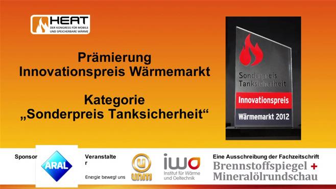 Prämierung Innovationspreis Wärmemarkt