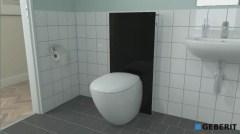 montagefilm geberit monolith f r wand wc shkvideo. Black Bedroom Furniture Sets. Home Design Ideas