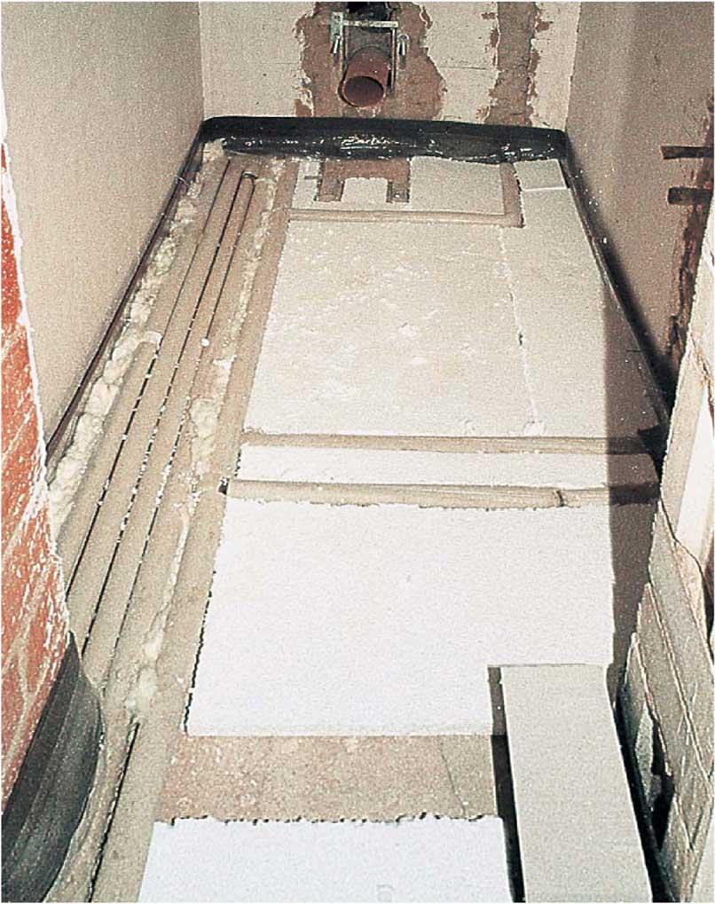 beheizter fußboden - rohrleitungen auf decken - shkwissen