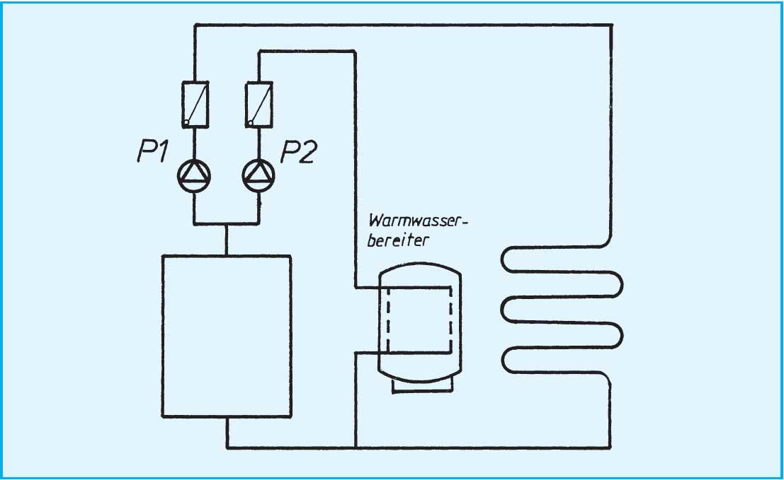 regelung der fu bodenheizung hydraulische schaltungen. Black Bedroom Furniture Sets. Home Design Ideas