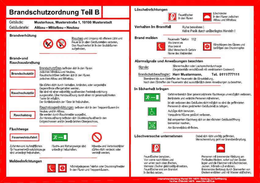brandschutzordnung b - Brandschutzordnung Muster