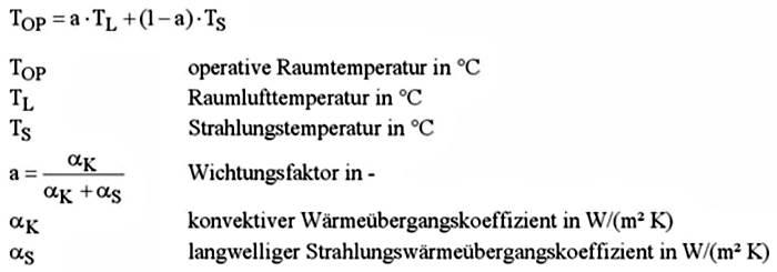 die norm innentemperatur in der heizlastberechnung din en 12831 entspricht der operativen. Black Bedroom Furniture Sets. Home Design Ideas