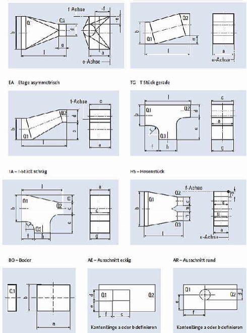 blechkan le und blechkanalformst cke nach din en 1505 und. Black Bedroom Furniture Sets. Home Design Ideas