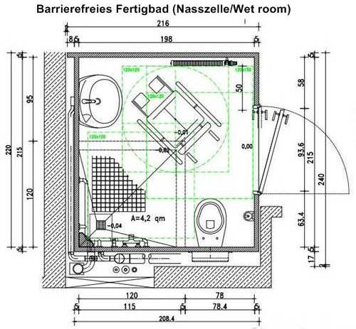 barrierefreies fertigbad nasszellewet room - Nasszelle Dusche Wc